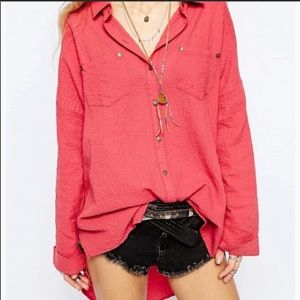 Free people lover her madly button down top